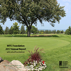 Cover of the 2017 WITC Annual Report, which features a tree in a grass field.