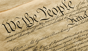 We the People...image of the Constitution document