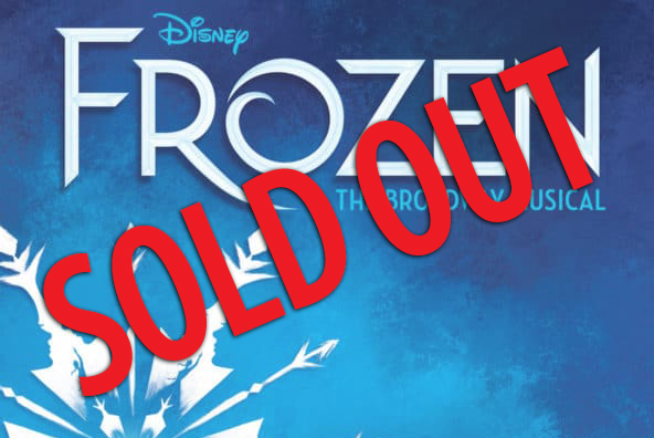 "image of the frozen title/logo with words ""sold out"" over it"