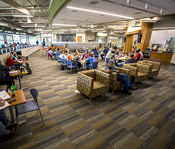 View of WITC-Rice Lake's cafeteria