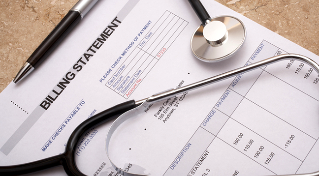 A medical billing statement