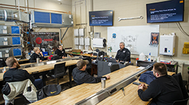 HVAC students in the classroom