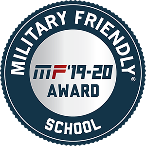 Military Friendly 2019-2020 award badge