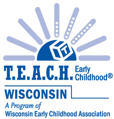 T.E.A.C.H. Early Childhood Wisconsin logo, a program of Wisconsin Early Childhood Association