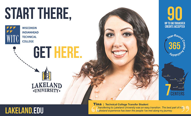 Start at WITC and get to Lakeland University