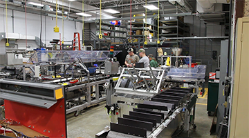 View of the automated packaging lab